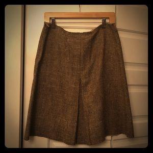 Prada A-line tweed skirt